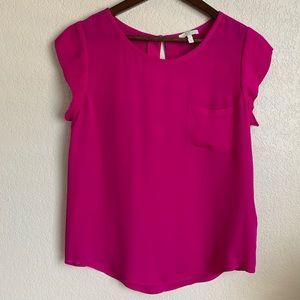 Joie magenta silk blouse